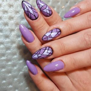 modele unghii cu gel mov