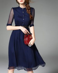 rochie de zi albastra