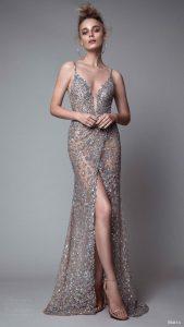 rochie de gala gri