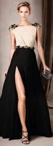 rochie lunga cu crapatura