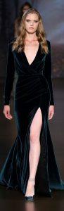 rochie catifea eleganta