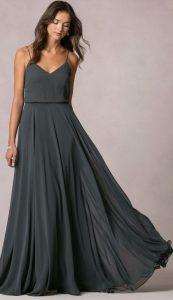 rochie lunga gri