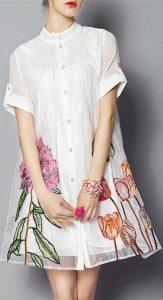 rochie alba botez