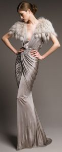 rochie eleganta gri