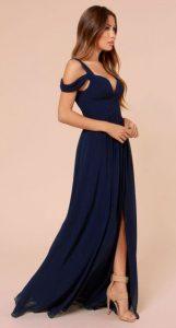 rochie albastra banchet