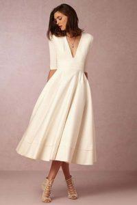 rochie alba eleganta