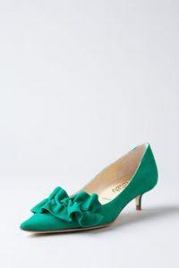 pantofi verzi toc mic