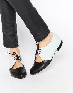 pantofi alb cu negru
