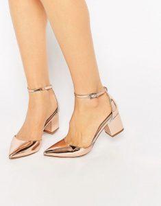 pantofi toc mic patrat