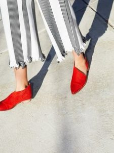 pantofi rosii fara toc