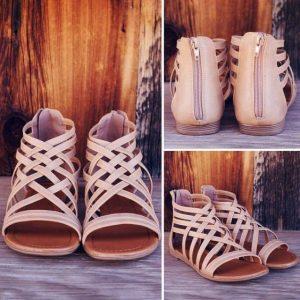 sandale crem cu bretele