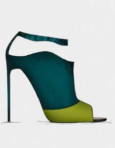 pantofi verde cu albastru
