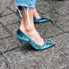 pantofi albastrii