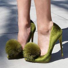 pantofi cu puf