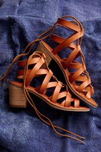 sandale maro cu bretele