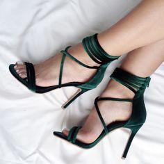 sandale negre stiletto