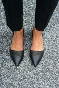 pantofi negri fara toc