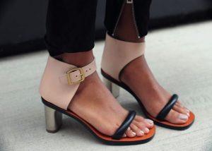sandale toc mic