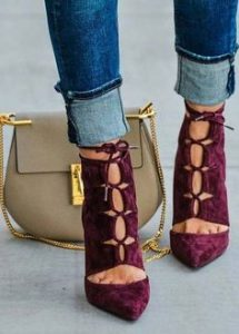 model pantofi decupati
