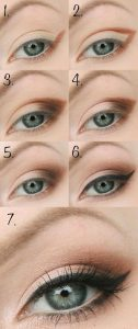 machiaj ochi albastrii