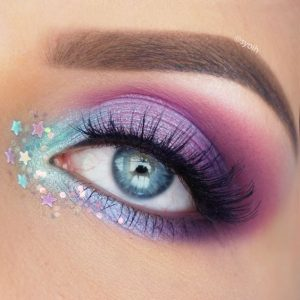idei machiaj pentru ochii albastrii