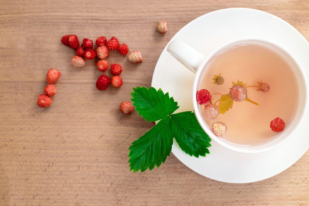 ceai de frunze capsuni
