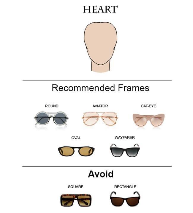 Glass Frames for Heart Faces